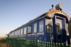 Retro passenger train car Stock Image