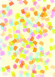 Retro Pastel Background. A colorful background with a retro theme. Circles within a rectangle royalty free illustration