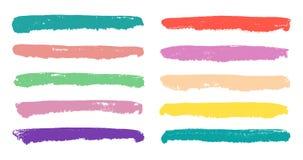 Retro pastel color soft spot stripes set. Royalty Free Stock Images