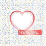Retro pastel mosaic love heart. st. valentine Royalty Free Stock Image