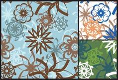 Retro Pastel Seamless Floral Background Vector Illustration