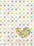 retro pastell för hjärtaförälskelsemosaik royaltyfri illustrationer