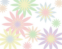 Retro- Pastellblumenhintergrund Stockbild