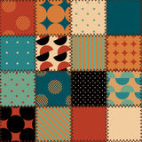 Retro patchwork stock illustration