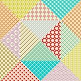 Retro patchwork. 16 Vector seamless patterns Stock Photo