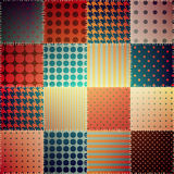 Retro patchworku wzór Obrazy Royalty Free