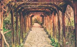 Retro Pathway In The Park Stock Image
