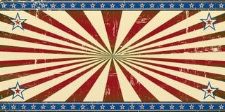 Retro patriotiskt baner stock illustrationer