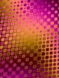 Retro Patronen - Roze Sinaasappel Stock Afbeelding
