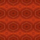 Retro patroon met ovale vormen in jaren '50stijl. Stock Afbeelding