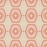 Retro patroon met ovale vormen in jaren '50stijl. Stock Afbeeldingen