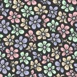 Retro patroon van de kleuren naadloze bloem Royalty-vrije Stock Afbeeldingen