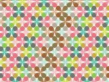 Retro patroon van de pastelkleurbloem Stock Afbeeldingen