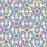 Retro patroon van geometrische vormen Royalty-vrije Stock Foto's