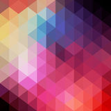 Retro patroon van geometrische vormen Kleurrijke mozaïekbanner Hipst Stock Foto