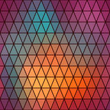 Retro patroon van geometrische vormen Rug van het driehoeks de kleurrijke mozaïek Royalty-vrije Stock Afbeeldingen