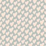 Retro patroon van harten Royalty-vrije Stock Afbeelding