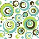 Retro Patroon van het Behang van Cirkels Naadloze Stock Afbeelding