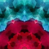Retro patroon van hexagonale vormen wordt gemaakt die Mozaïek mede gem als achtergrond Stock Foto's
