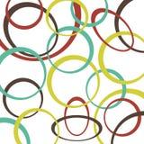 Retro patroonachtergrond met cirkels Royalty-vrije Stock Afbeeldingen