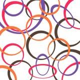 Retro patroonachtergrond met cirkels Stock Afbeelding