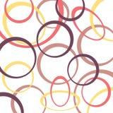 Retro patroonachtergrond met cirkels Stock Fotografie