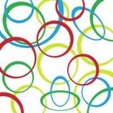 Retro patroonachtergrond met cirkels Royalty-vrije Stock Foto