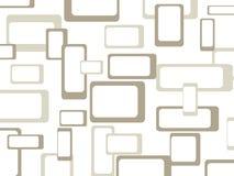 Retro patroonachtergrond met rond gemaakte vierkanten - Royalty-vrije Stock Fotografie