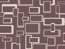 Retro patroonachtergrond met rond gemaakte vierkanten - Stock Afbeeldingen