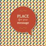 Retro patroonachtergrond met toespraakbel voor yo Stock Foto's