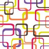 Retro patroonachtergrond met vierkanten Royalty-vrije Stock Fotografie