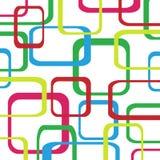 Retro patroonachtergrond met vierkanten Stock Foto's