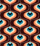 Retro pattern. Repeat sample in retro style in brown and orange Stock Photos