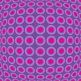 Retro pattern. Illustration of seamless convex retro pattern Stock Photography