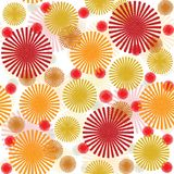 Retro pattern with abstract  flowers Royalty Free Stock Images