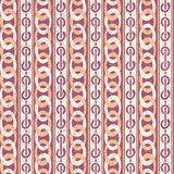 Retro Pattern. Abstract seamless vector pattern with vintage chains Stock Photo