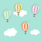 Retro Pattern with Air Balloons Vector Stock Photo