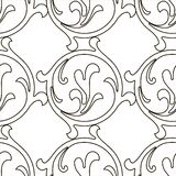 Retro pattern antique style acanthus. Seamless pattern. Vector hand-painted vintage baroque ornament royalty free illustration