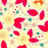 Retro pattern with apple bright Stock Photo