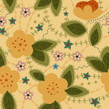 Retro pattern with apple flowers Royalty Free Stock Photography
