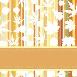Retro pattern with autumn leafs. EPS 8 Stock Images