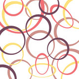 Retro pattern background with circles Stock Photography