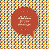 Retro pattern background with speech bubble for yo Stock Photos