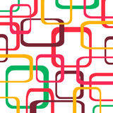 Retro pattern background with squares. Rounded Royalty Free Stock Photos
