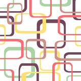 Retro pattern background with squares. Rounded Royalty Free Stock Image