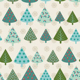 Retro pattern Christmas tree - Illustration Stock Photos