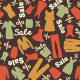 Retro pattern of clearance sale Royalty Free Stock Images
