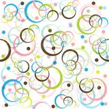 Retro pattern with colored circles. And dots Stock Images