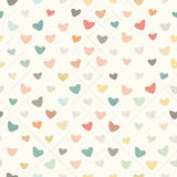 Retro Pattern with Colorful Hearts Stock Photos