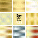 Retro pattern design Royalty Free Stock Images